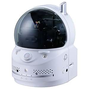 PLANEX カメラ一発! 無線ネットワークカメラ パン・チルト(遠隔操作)/100万画素/暗視撮影/赤外線(熱感知)センサー/温度計 CS-W70HD iPhone・iPad・Android・Windows対応