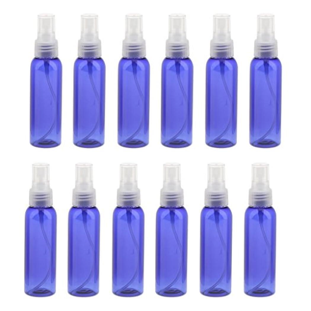 悪のハングピュー空 旅行用 スプレーボトル アトマイザー 液体香水 軽量 便利 詰め替え&ポータブル 12本 60ML 全3色 - クリア