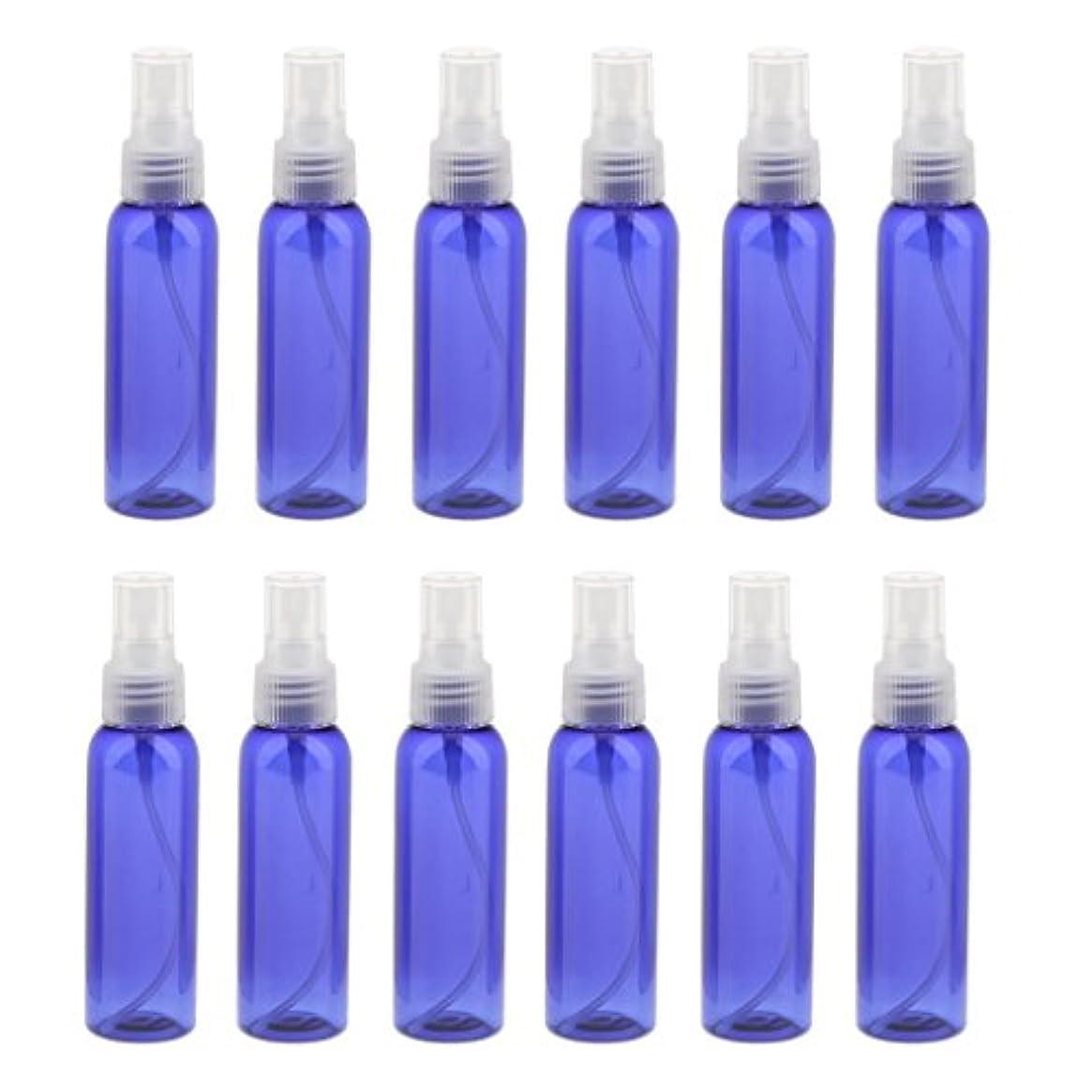 言い換えるとチップ今後Kesoto お買い得! 空 旅行用 スプレーボトル  アトマイザー 液体香水 軽量 便利 詰め替え&ポータブル 12本 60ML 全3色 - クリア