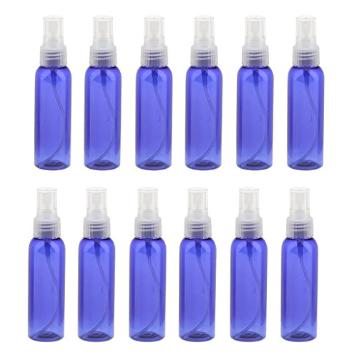一杯小人ラジウム空 旅行用 スプレーボトル アトマイザー 液体香水 軽量 便利 詰め替え&ポータブル 12本 60ML 全3色 - クリア