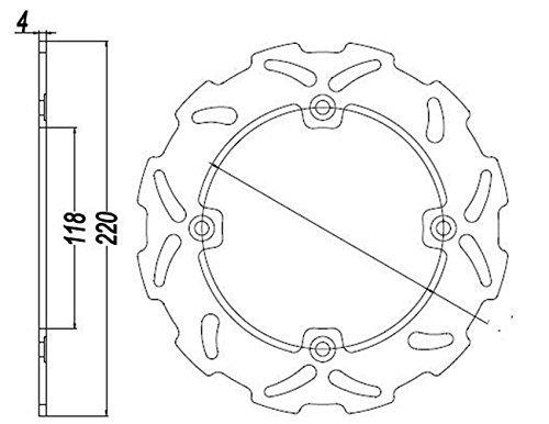 Beautyladays バイク リア ブレーキ ディスク ローター スズキ(Suzuki) TS125R TS200R DR250S DR350(S)(R)
