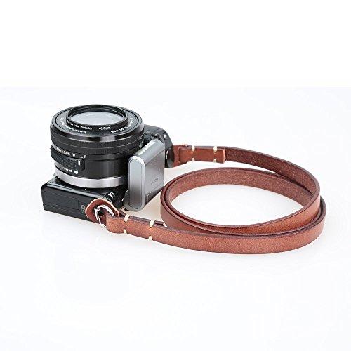 CANPIS ニコンキヤノンソニーペンタックスライカのためのユニバーサルハンドメイドレザーカメラショルダーネックストラップオリンパスフジ新しいデザイン