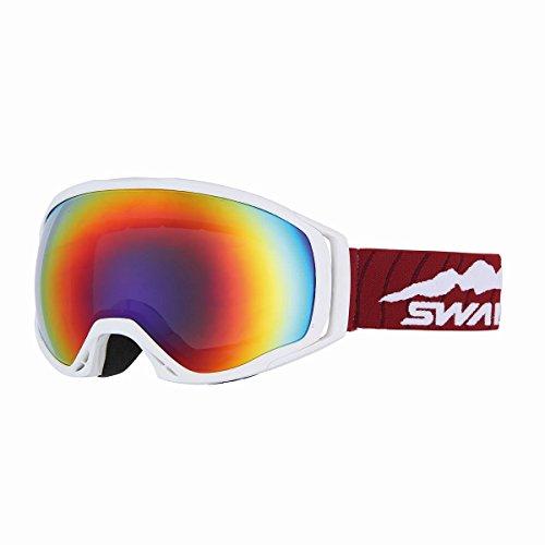 SWANS(スワンズ) ゴーグル スキー スノーボード O-060MDHS W ホワイト