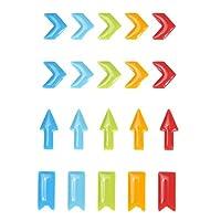 volflashy ステッカー シール フォト 飾り 樹脂 エポキシ DIY アルバム 個性 デコレーション カラフル 多種類 矢印