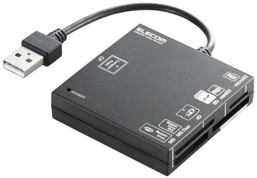 【2010年モデル】ELECOM カードリーダライタ USB2.0対応 SD+MS+CF+XD ブラック MR-A004BK