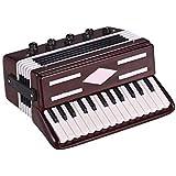 Alano ミニアコーディオンオーナメント ミニチュアデスクトップデコレーション アコーディオンモデル レプリカ 精巧な卓上楽器 ホリデーデコレーションオーナメント 音楽ギフト 繊細なボックス付き レッド