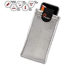 PHOOZY XP3 Series Thermal Phone Case - Protects Against Snow/Cold, Sun/Heat Drops. Water-Resistant, SinkProof Technology Rugged All-Weather Protection [XL - Iridium Silver]