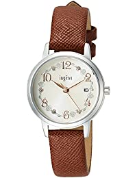 [アンジェーヌ]ingenu 腕時計 ingenu 母の日限定「バラ」モデル 限定500本 スワロフスキー入り文字盤 ブラウン革バンド AHJK711 レディース