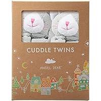 Angel Dear Cuddle Twins Blankie, Grey Kitty by Angel Dear