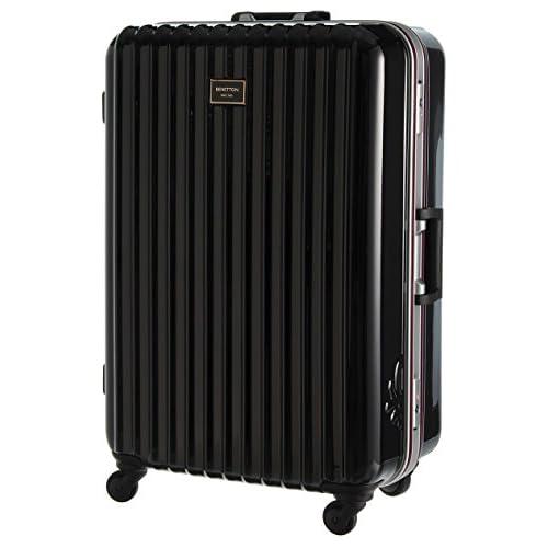 (ユナイテッドカラーズオブベネトン) UNITED COLORS OF BENETTON 静走ラインキャリーバッグ・スーツケースL ブラック FREE