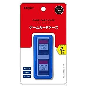 Nintendo Switch (ニンテンドースイッチ) 用 カードケース 4枚収納 ブルー Z1667