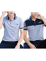 (ネルロッソ) NERLosso ポロシャツ メンズ 半袖 ボタンダウン ゴルフ 正規品 L s cmx24380-L-s