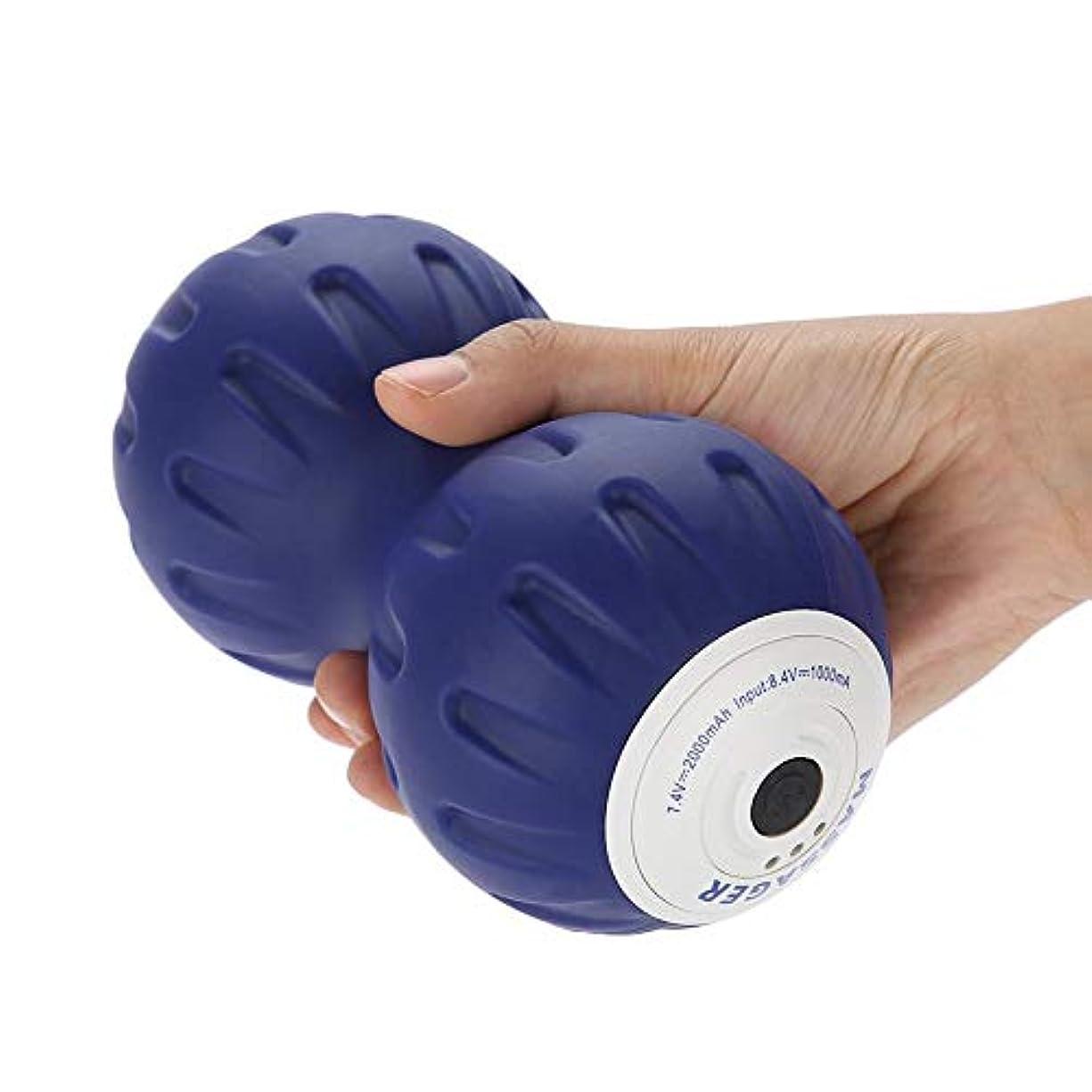 船図追うピーナッツ マッサージボール 筋膜 マッサージローラー ピラティスヨガ枕筋肉 リラックスリリース フィットネス(02)
