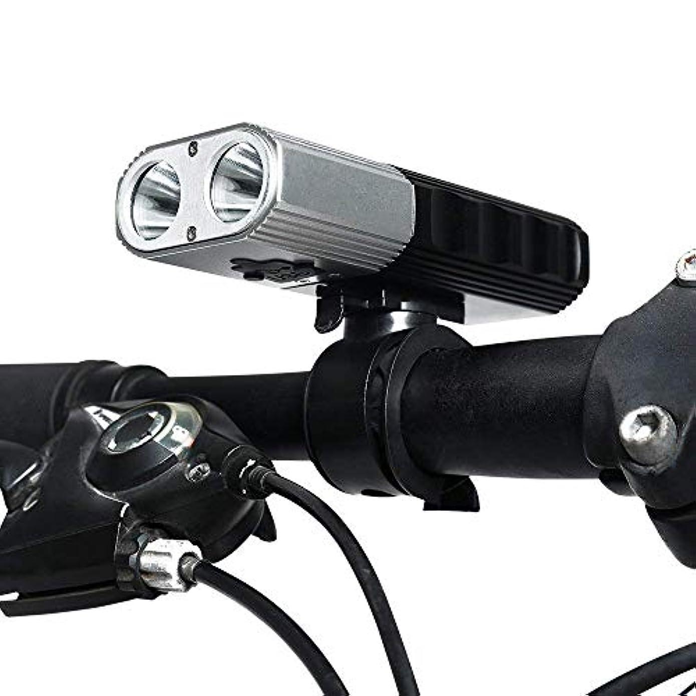 金属どっちでも宣伝MUTANG USB充電式自転車ライトセット2x700ルーメン自転車ライト自転車ヘッドライトフロントランプマウンテンバイクライト自転車ライト自転車ライト防水IP65