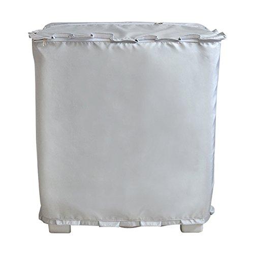 [해외][Mr. You] 세탁기 커버 더블 레이어 전용 독립의 물 입구 디자인 실버 원단 업그레이드 (L~ 실버)/[Mr. You] washing machine cover double layer exclusive independent water inlet design silver fabric upgrade (L~ silver)