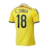 Adidas C. ZUÑIGA #18 Colombia Home Jersey World Cup 2014/サッカーユニフォーム コロンビア ホーム用 ワールドカップ2014 背番号18 C. ズニーガ (L)