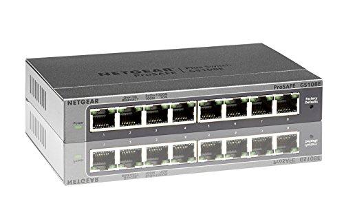 (旧型モデル)NETGEAR Inc. GS108E 【本体ライフタイム保証】8ポート ギガビット Plus スイッチ GS108E-100JPS