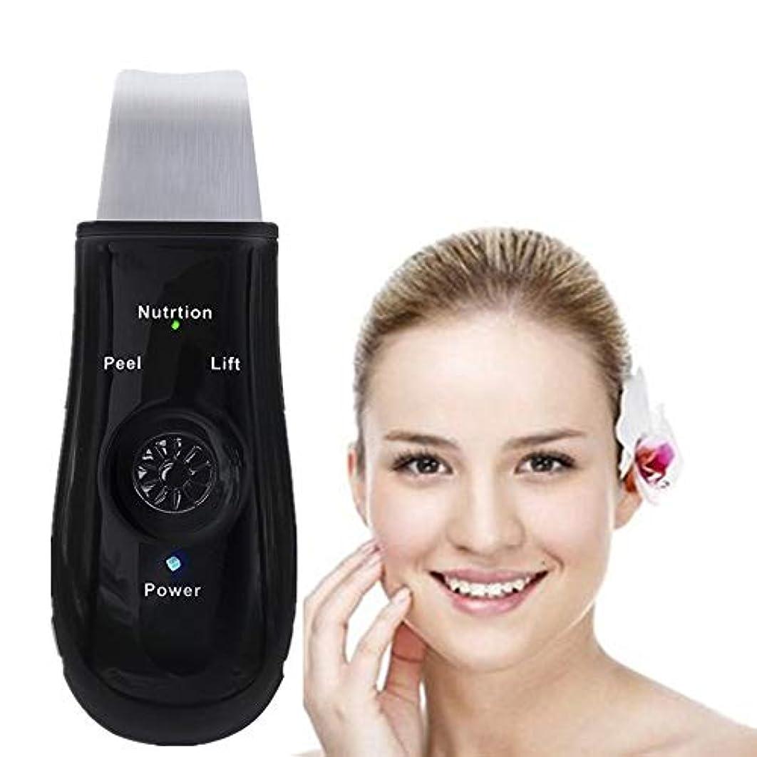説得面フィード充電式 - 黒の除去機のUSBピーリングリフティングEMSクレンジングエクスフォリエイティングスキンケアピーリングと顔の皮膚のスクラバーピール毛穴ツール装置ブラックヘッドリムーバー毛穴の掃除機