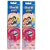 Braun Oral-B EB10-2 Disney Princess 歯ブラシ交換用ブラシヘッド 2Pack [並行輸入品]