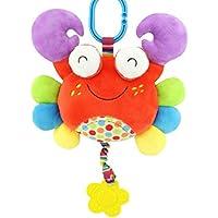 HuaQingPiJu-JP 子供幼児ラブリーカニローリングハンドつかむミラーおもちゃカラフルなセーフティミラーギフト