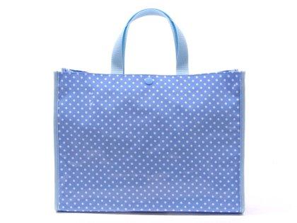 おしゃれKidsのプールバッグ・ラミネートバッグ(スクエアタイプ)【水玉(水色地に白ドット)】日本製 N0333200