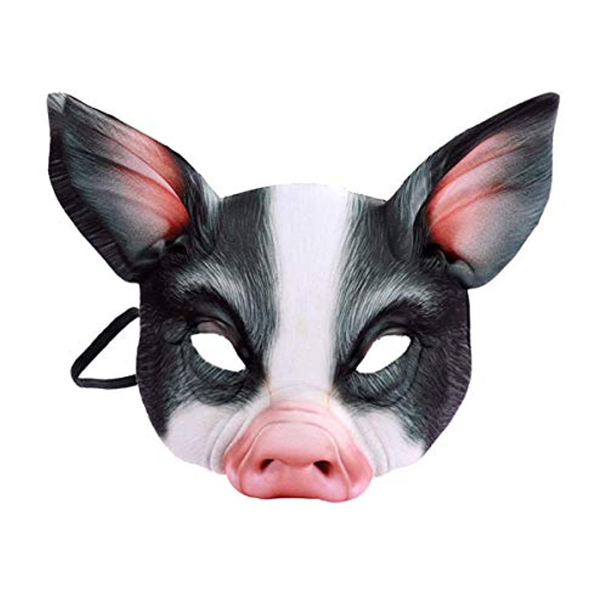化学国家プレゼンテーションTOYMYTOY 動物マスク パーティーマスク 豚マスク コスプレ小物 仮装マスク 仮装 変装 お面 かぶりもの 仮装イベン アイテム お祭り 宴会 学園祭 ブラック