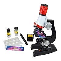 Mora 子供用顕微鏡セット 初心者用顕微鏡 マイクロスコープ LED照明付き 小学生科学実験知恵玩具 小学校向き 自由研究/生物研究/実験/学習 倍率切り替え可能(100X、400X、1200Xの拡大倍率) 科学おもちゃ 知恵玩具