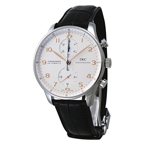 [アイダブリューシー]IWC 腕時計 ポルトギーゼ クロノ シルバー PG 黒クロコ 自動巻き Dバックル IW371445 メンズ 【並行輸入品】