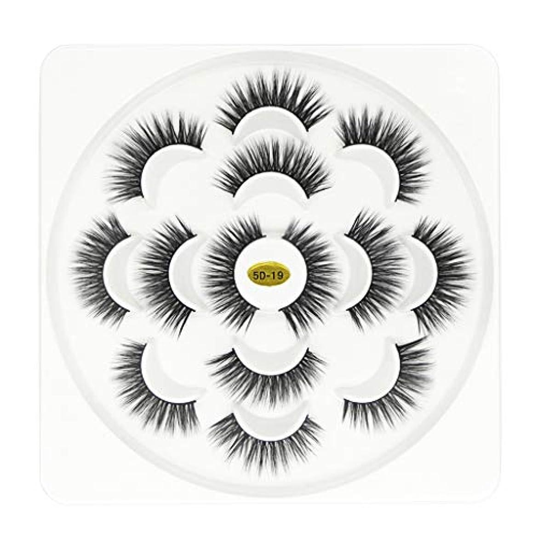 アリ自分の抽象化パーティー5Dつけまつげまつ毛ボリュームのあるまつげ7ペアメイクまつげ