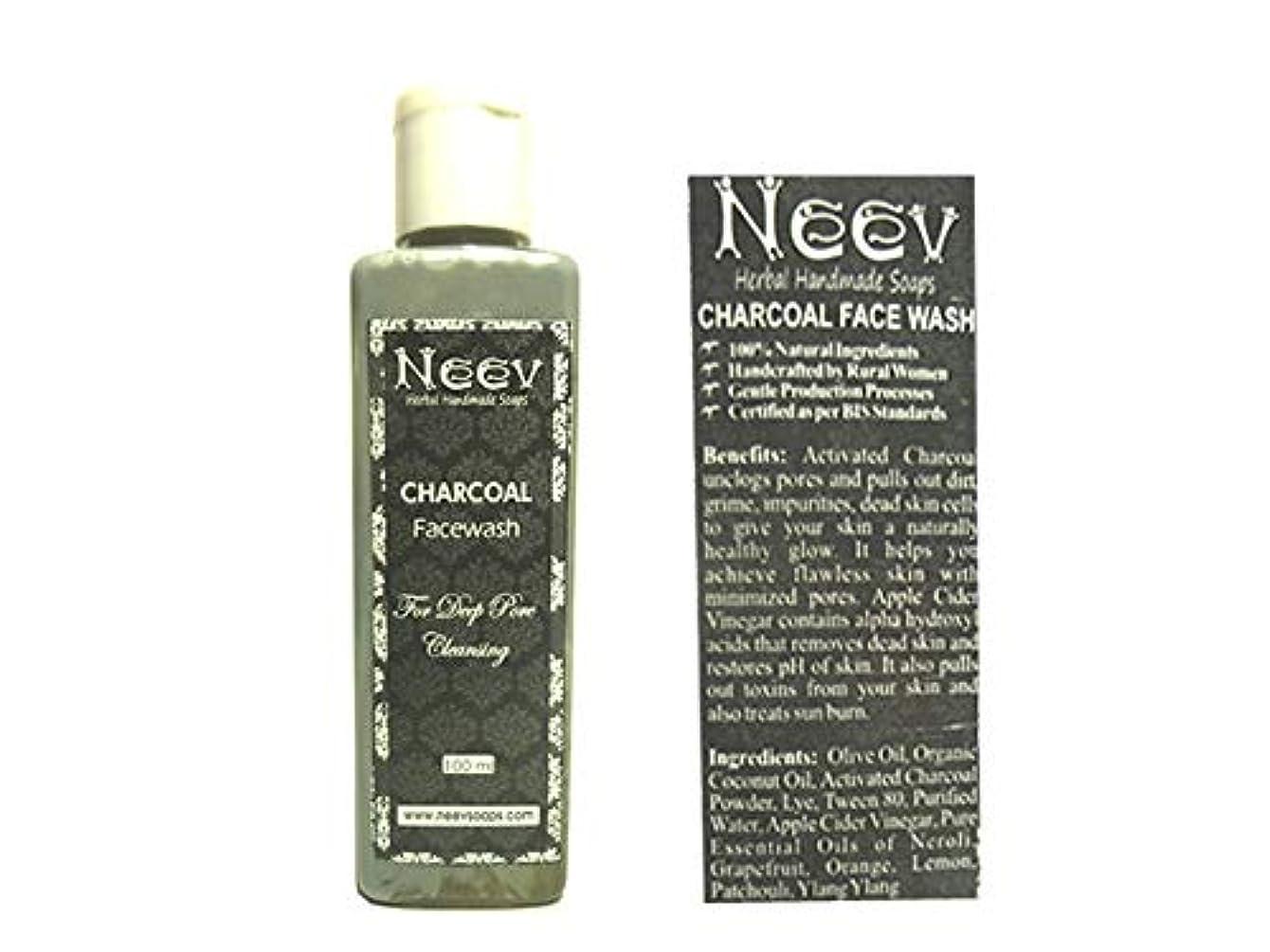 こっそり生産性ロンドン手作り ニーブ チャコール(炭) フェイスウォッシュ 100ml AYURVEDA NEEV CHARCOAL Facewash
