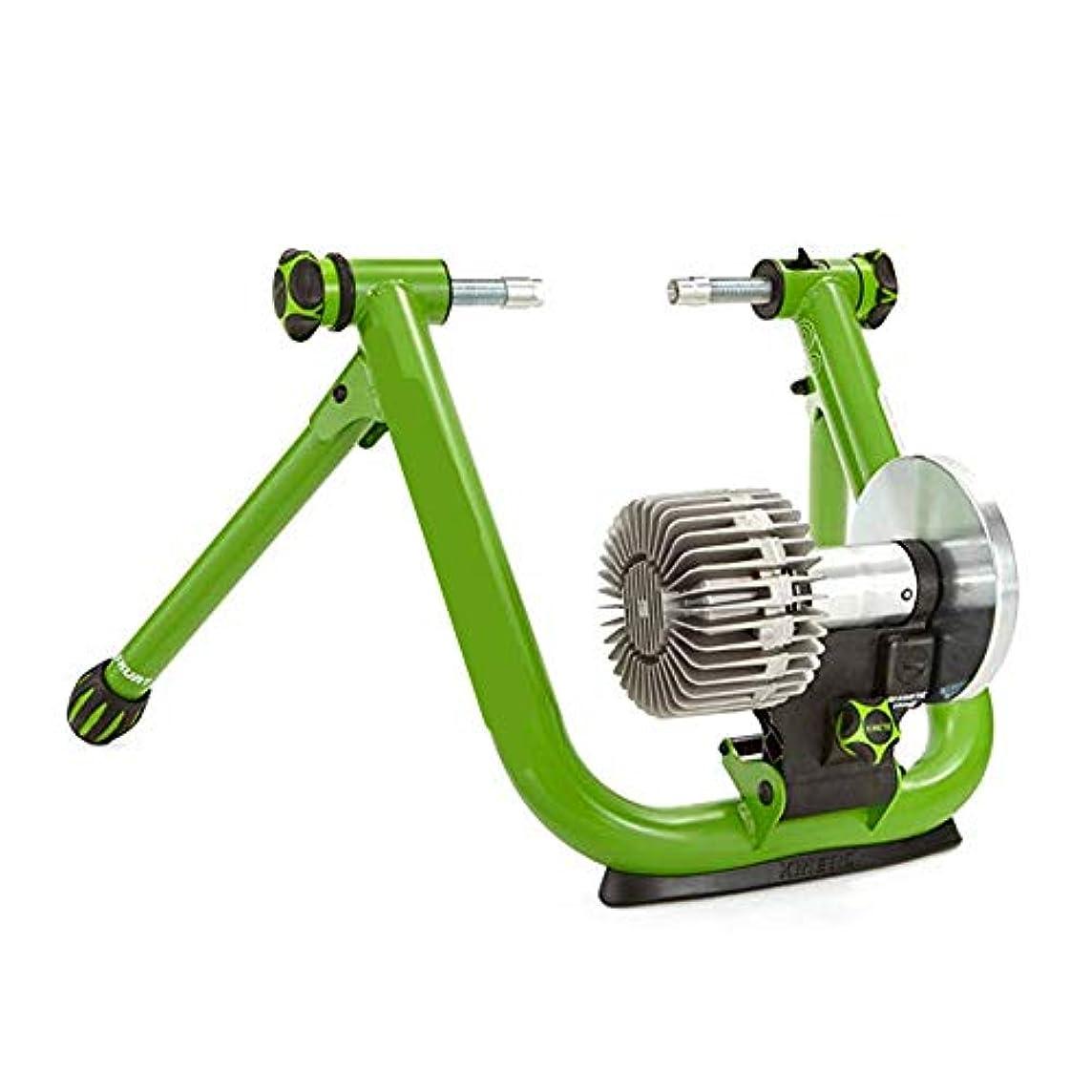 聡明プラカード徴収バイクトレーナー 磁気ターボトレーナー - ロード&マウンテンバイク用可変抵抗屋内バイクトレーナー 室内自転車エクササイズ (色 : 緑)