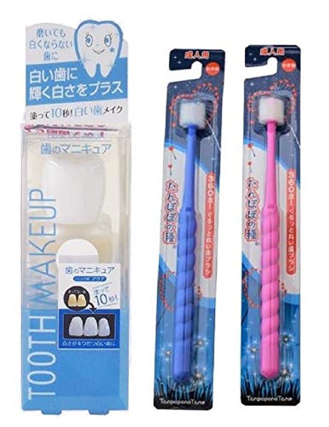 シーズンめる一握りハニックDCアクア たんぽぽの種歯ブラシ2本セット