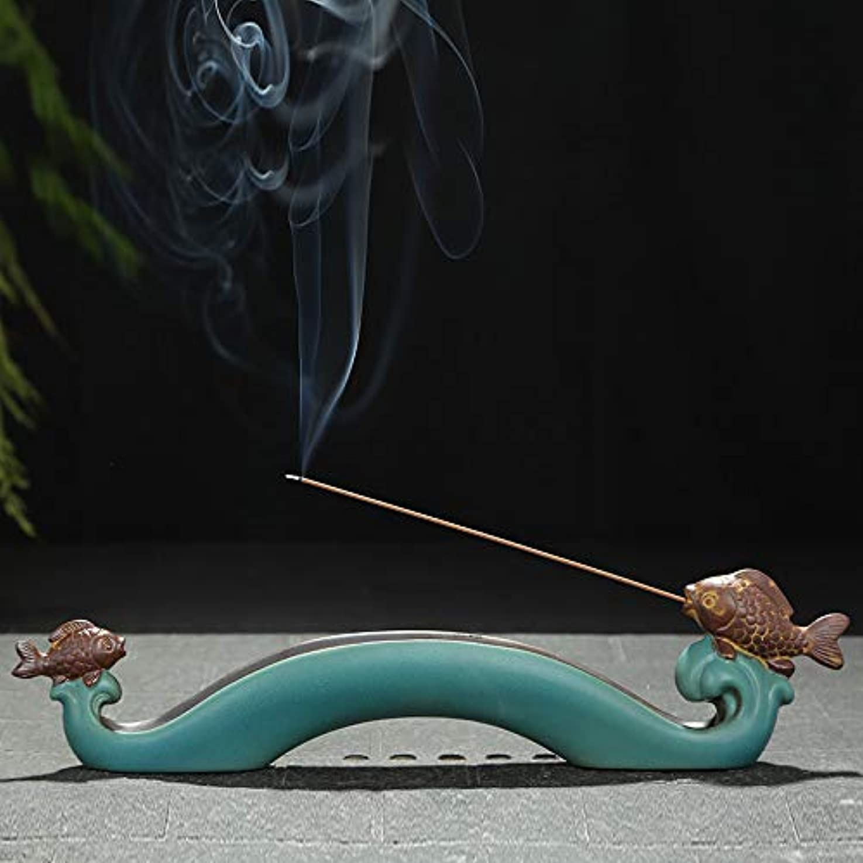 付録神経障害神経障害PHILOGOD 香炉 陶器クリエイティブ鯉のスタイリング線香 香立てお香 ホルダー 香皿
