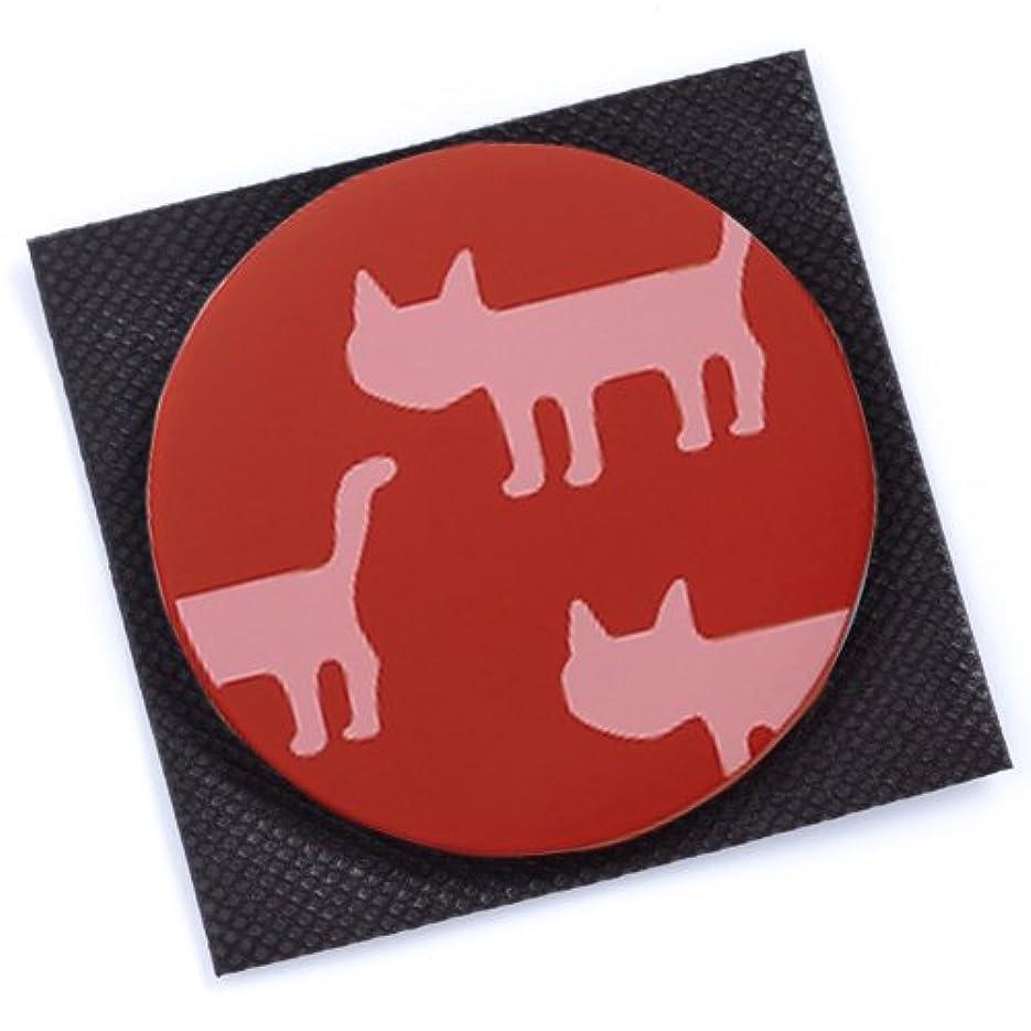 シャベル不安定なプロポーショナル[マタノアツコ] 【 アツコマタノ 】 手鏡 シルエット猫 ワイン