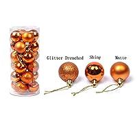 Wholehome 24個  クリスマスボール  飾り  クリスマスツリー  ウェディングデコレーション (4cm, シナモン)