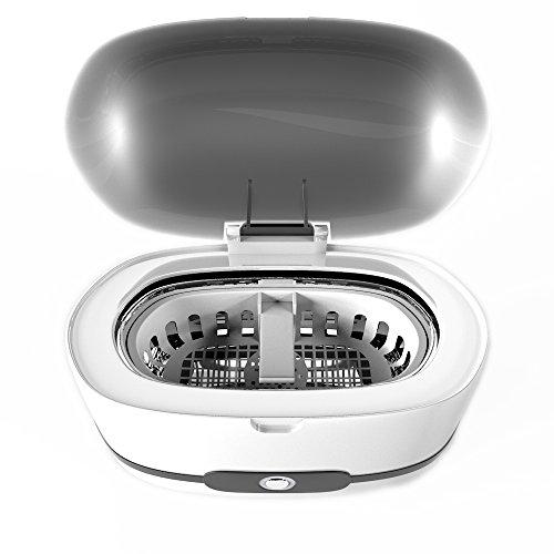 personal-α 【みるみる落ちる!】 超音波洗浄器 家庭用トップレベル43,000Hz パワフル35W ホワイト 洗浄カゴ付 ボタン一つでしっかり洗浄 手洗いでは落とせない隠れた汚れに 【メーカー正規品】