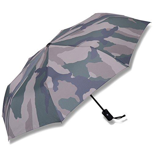 AMADURA 晴雨兼用 折りたたみ傘 片手で 自動開閉 軽くて丈夫な 8本骨 プロテクションUV加工 メンズ レディース 収納袋付 (迷彩柄)
