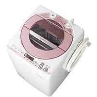 シャープ 8.0kg 全自動洗濯機 ピンク系SHARP 穴なしサイクロン洗浄 ES-GV80P-P