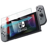 スイッチ 保護フィルム 透明 ガラスフィルム Nintendo Switch スマブラ 対応 硬度9H 指紋防止 日本製 素材【WANLOK】switch 透明