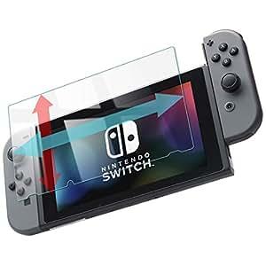 スイッチ 保護フィルム 透明 ガラスフィルム 【つるつる度UP】 Nintendo Switch スマブラ 対応 硬度9H 指紋防止 日本製 素材【WANLOK】switch 透明