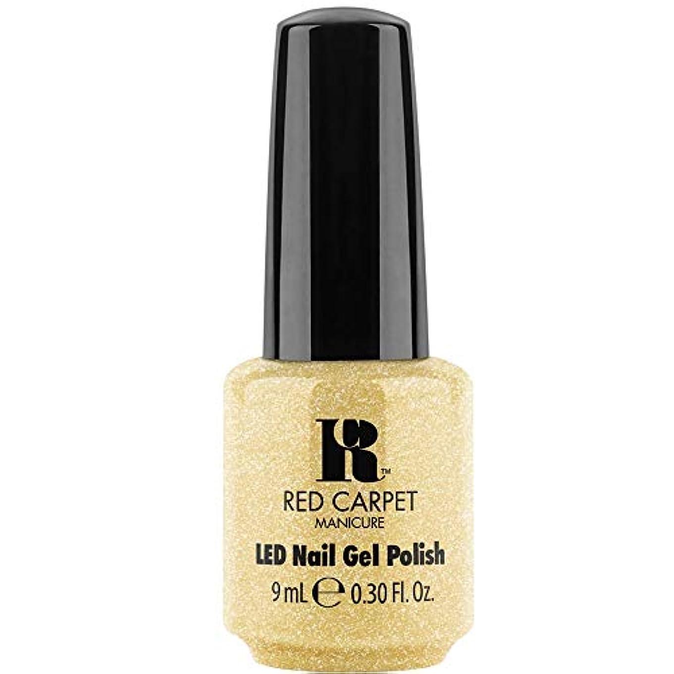 原油申請中ピッチRed Carpet Manicure - LED Nail Gel Polish - Mirror Check - 0.3oz / 9ml