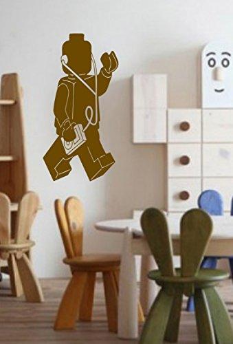 LEGOコンストラクタMan Player音楽おもちゃ子供部屋子供スタイリッシュな壁アートステッカーデカールg9226