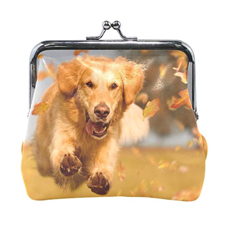 AOMOKI 財布 小銭入れ ガマ口 コインケース レディース メンズ レザー 丸形 おしゃれ プレゼント ギフト オリジナル 小物ケース ドッグ 犬柄 可愛い犬柄