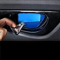 インナードア手首ステッカー車のドアインテリアハンドルカバードアボウル装飾カバートリム用日産エクストレイルt32 2015-2017 b121-blue with logo