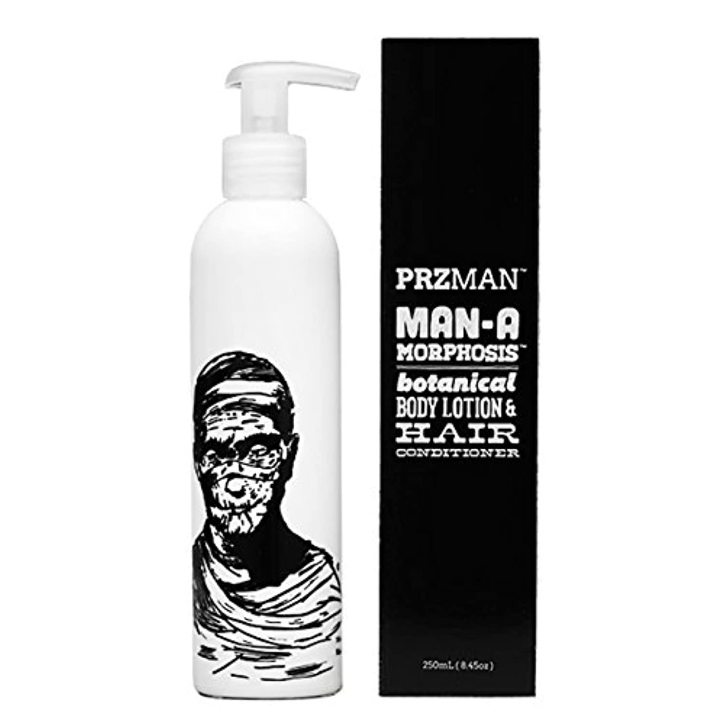 誇張感謝している可能性PRZMAN プラズマン MAN A MORPHOSIS BODY LOTION&HAIR CONDITIONER(ボディローション&ヘアコンディショナー) 250ml 72113001