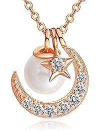 MUGOM スワロフスキー Akoya真珠 パール ネックレス レディース 真珠 ネックレス 純銀925 限定品 7種着る方法 プレゼント 誕生日 女性