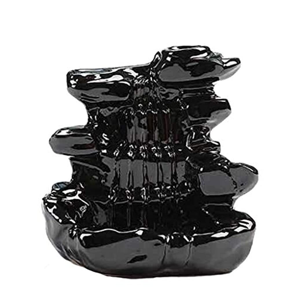悪性結晶ランチ芳香器?アロマバーナー 家の装飾逆流香バーナーセラミックコーン滝香ホルダー仏教香炉 アロマバーナー芳香器 (Color : B)