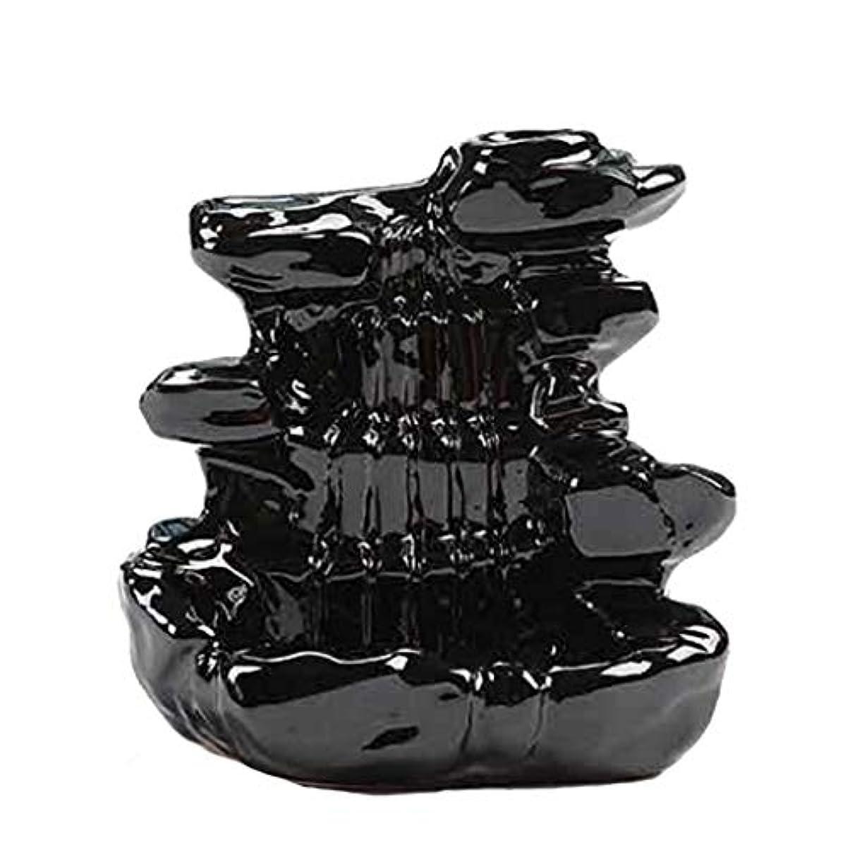 バーマドトリップ原因芳香器?アロマバーナー 家の装飾逆流香バーナーセラミックコーン滝香ホルダー仏教香炉 アロマバーナー芳香器 (Color : B)