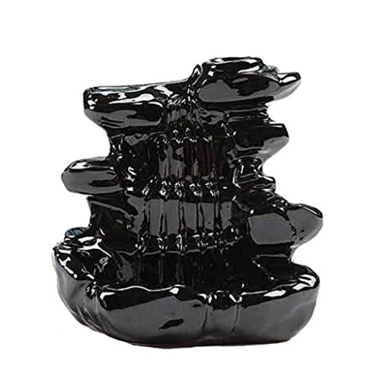大人ひらめき性格芳香器?アロマバーナー 家の装飾逆流香バーナーセラミックコーン滝香ホルダー仏教香炉 アロマバーナー芳香器 (Color : B)