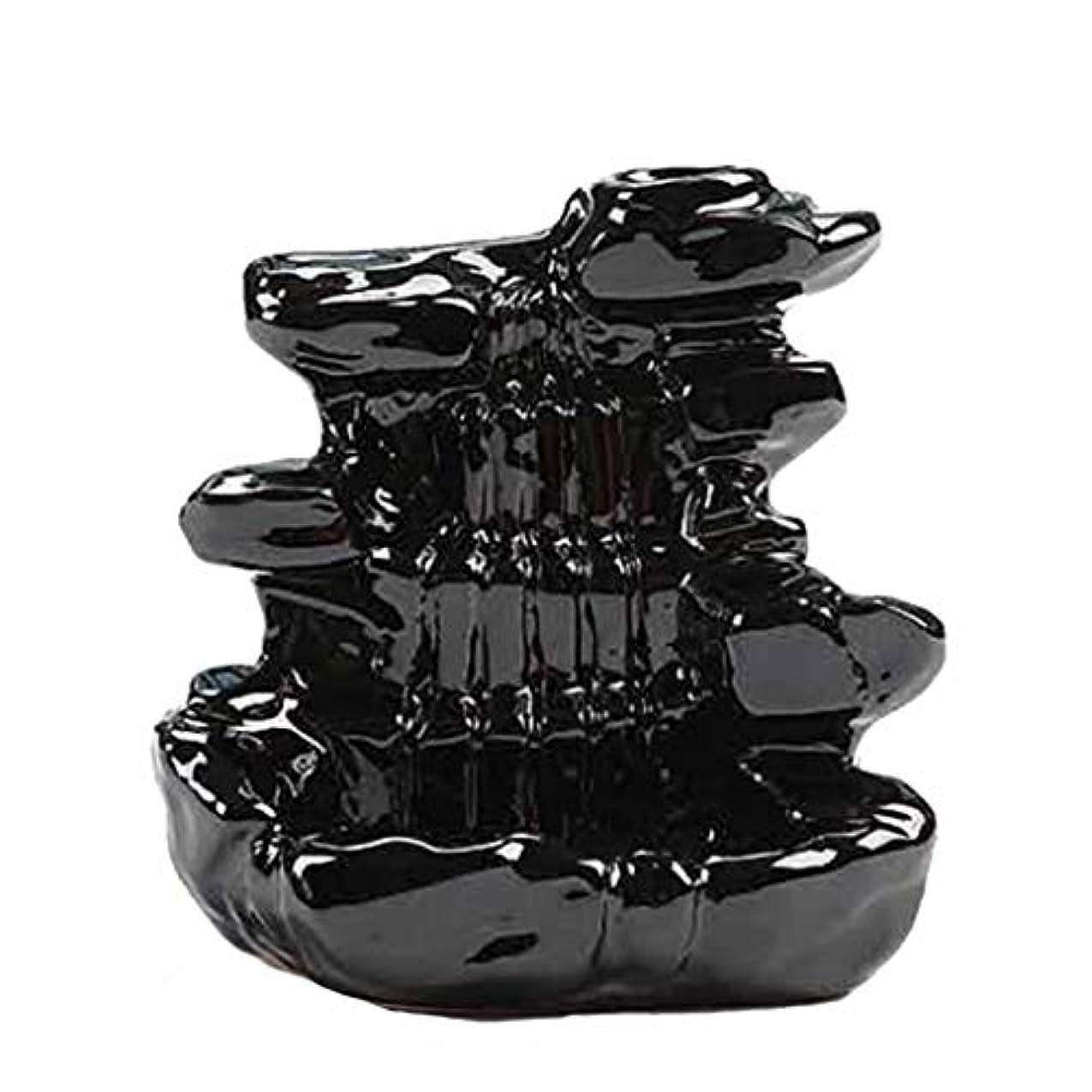 アヒル後めったに芳香器?アロマバーナー 家の装飾逆流香バーナーセラミックコーン滝香ホルダー仏教香炉 アロマバーナー芳香器 (Color : B)